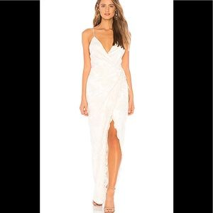 Michael Costello x REVOLVE Adeline Gown Ivory NWT